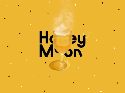 Honey Moon 🍯🌙🔮 esoteric type typography crystal ball tarot terror horror spooky halloween wine coven witches witch logo branding brand design