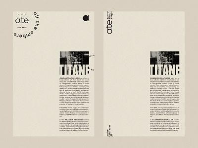ATE / Letterhead typography type brand design titane film producer film production films film letterhead mark branding logo brand mexico design
