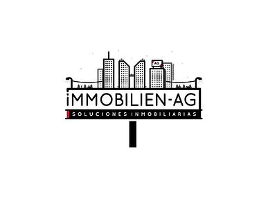 Immobilien-AG  contruction realstate city illustration logo