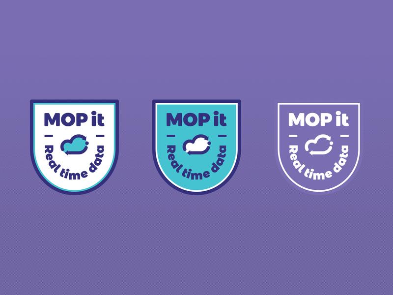 MOP it III shield icon typography mark mexico design monogram cloud service technology tech cloud branding brand logo emblem