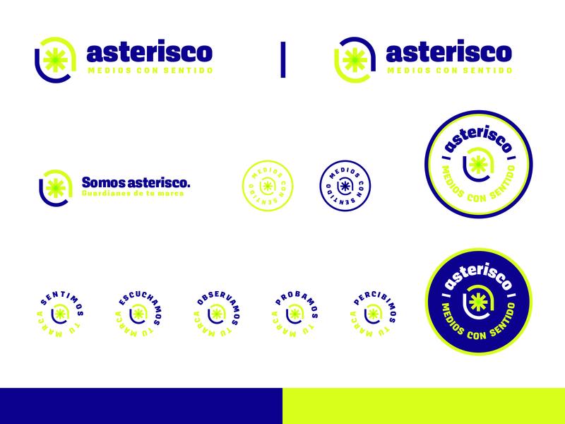 Asterisco / Medios Consentido symbol logo marks logo mark letter a logo letter a monogram typography mark brand mexico design logo design logo branding