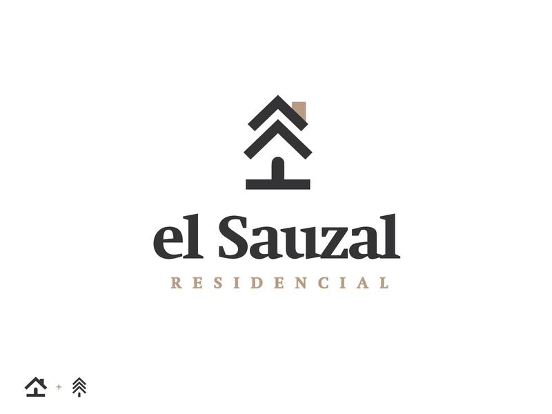 el Sauzal (II) housing real estate houses house pines pine pine tree trees tree mark branding logo brand mexico design