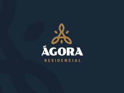 Ágora Residencial logo mark design logo mark symbol logo mark lettermark letter a leafs leaf houses house real estate puebla typography mark color branding logo brand mexico design