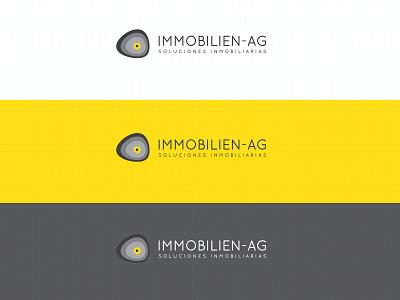 Immobilien-AG pins pin location pin location colors houses house real estate terrain curves logo mark logo design color mark branding logo brand mexico design