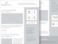 Wireframe - Email Newsletter