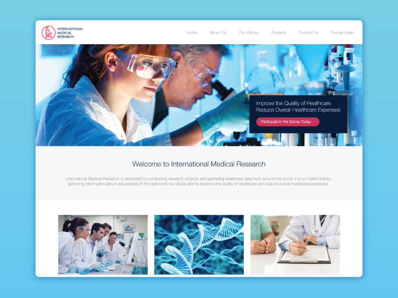 Website Design for International Medical Research wordpress website design web