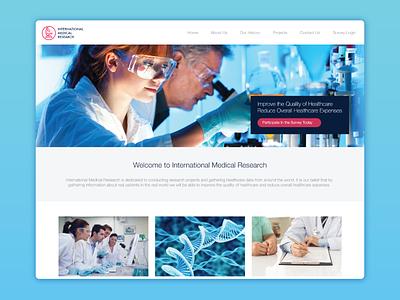 Website Design for International Medical Research wordpress website design web