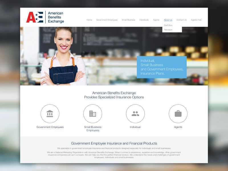 Website Design for American Benefit Exchange redesign web website wordpress