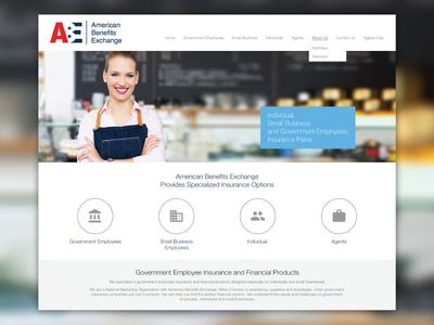 Website Design for American Benefit Exchange