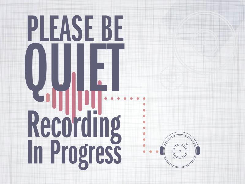 Recording Sign sign recording print graphic illustrator poster