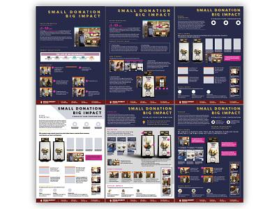 CHI 2018, Design Challenge (Poster In Progress) ux design chi poster design screen design donation box