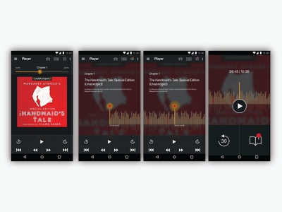 UI exploring for the app Audible (android) android audio book app ui design ux design