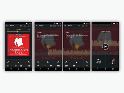 UI exploring for the app Audible (android)