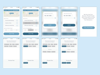 UI design for an emergency relief app