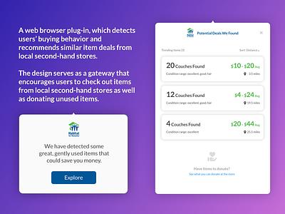 Web browser plug-in ui design