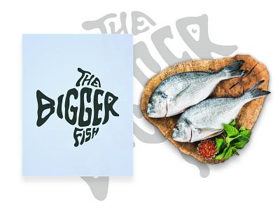 The Bigger Fish big fish logo bigger the bigger fish big fish graphic design vector illustration design branding wordmark logo logo fish wordmark