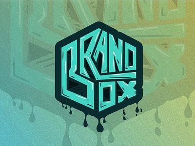 Brand Box typography logo branding vector graphic design illustration design box bran box graffiti design graffiti art graffity graffity art street art lettering text effect