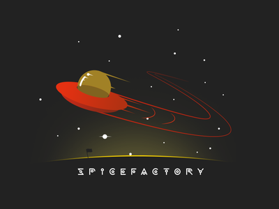 SpiceFactory Space T-Shirt flying saucer science fiction t-shirt print ufo swoosh sf spfr spicefactory space alien tshirt