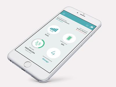 Mifi App Dashboard battery signal usage indicator hotspot android ios koncept dashboard app mifi