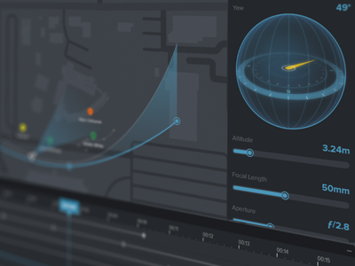 Camera Drone Control timeline video drone interface ux ui