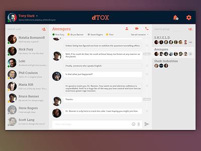 Detox Layout tox chat ux ui