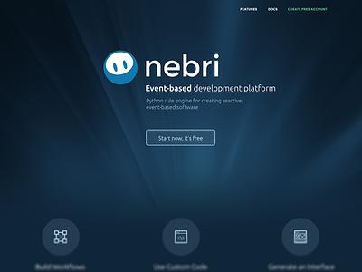 Nebrios Website minimalistic flat responsive website ux ui
