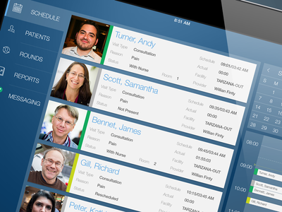 Medical Schedule medical schedule touch interface mobile ipad interface ux ui