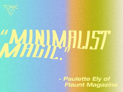 Minimalist Magic minimalist magic warped gradient design cbd type typography quote