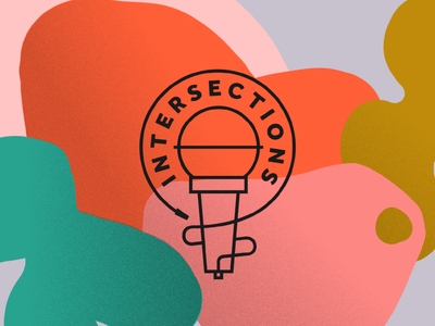 Intersections Logo inclusion comedy lgbtq equality gender symbol microphone logo microphone intersex intersexuality intersexual intersections logodesign logos logo
