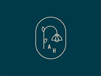 Logomark letter h letter a light fixture logomark minimalist logo minimal line logo logo mark