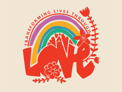 Transforming Lives Through Love t shirt design floral love rainbow pride month pride 2019 pride