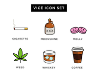 Vice Icon Set