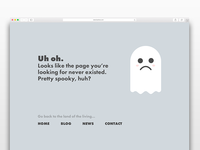 404 Page (Daily UI Challenge #8)