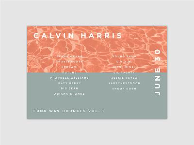 Funk Wav Bounces Vol. 1   Album Flyer Redesign calvin harris vinyl records packaging music branding album flyer