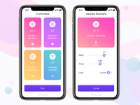 Thermostate controller app UI