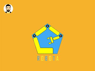 ROBOTIC LOGO minimalist logo website logo utube logo business logo flat logo logo design graphic design