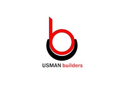 "LOGO ""Usman builders"" constructions logo minimalist logo design graphic design logo design"