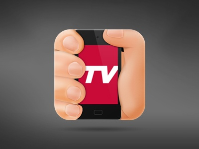 Tevee iOS Icon app icon iphone ipad ios mac tevee tv photoshop ui hand device mobile phone