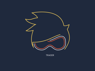 Overwatch's Tracer minimal icon game tracer overwatch