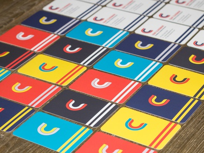 Business Cards Are In! print retro rounded colorful stationery branding cards business cards