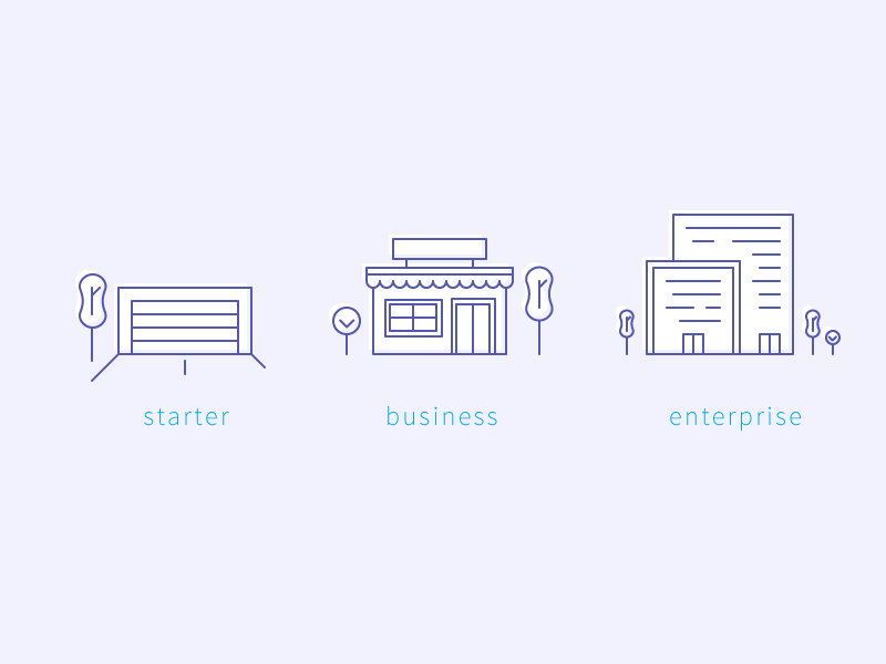 Business size icons
