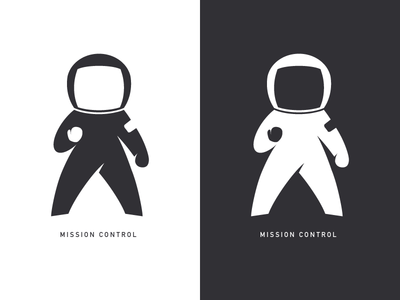 Mission Control astronaut logo logomark space fist pump