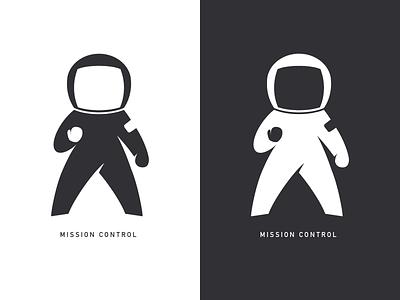 Mission Control astronaut logo logomark space fist pump