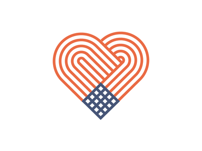 Flag Heart nationalism geometric pattern icon blue white red 4th of july americana america heart flag