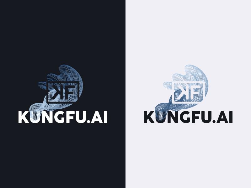 Kungfu.AI Logo logo lockup kungfu artificial intelligence blue branding