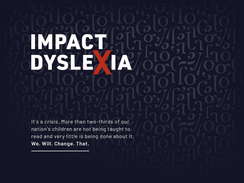 Impact Dyslexia bold crisis disability reading ascender descender stem bowl serif fragments pattern letters dyslexia letter x x black red branding logo