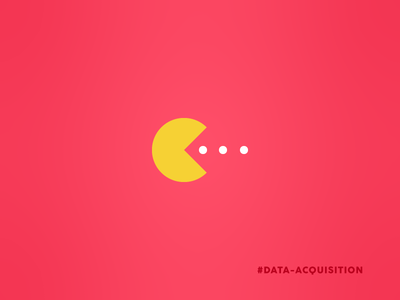 Data Acquisition funny pie graph pie chart chart icon visual pun pun dots red yellow pac man pac-man acquisition data