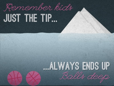 Just the tip... illustration texture grunge color typography