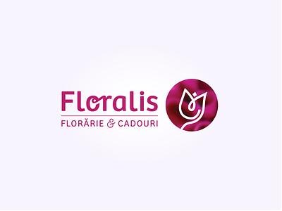 Floralis Logo ghiftshop pink magenta flowershop flower logo