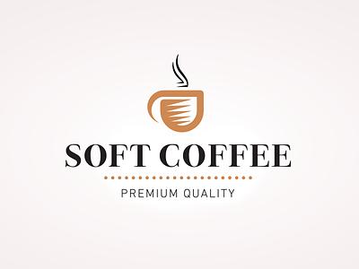 Soft Coffee Logo beans drinks symbol shape icon cup coffee